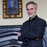 Artist Roger Wagner with his portrait of Archbishop of Canterbury Justin Welby now hanging at Auckland Castle5 (2)