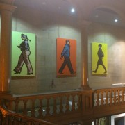 Julian Opie at the Bowes