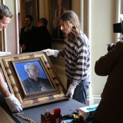 Portrait of Archbishop Justin Welby by Roger Wagner now hanging at Auckland Castle (1)