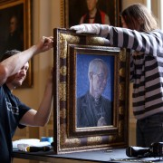 Portrait of Archbishop of Canterbury Justin Welby by Roger Wagner now hanging at Auckland Castle (1)